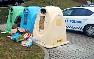 Veškerý odpad patří do sběrných nádob. Za odložení mimo vyhrazená místa hrozí vysoké pokuty