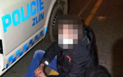 Strážníci opět pomáhali lidem, kteří leželi ve zlínských ulicích