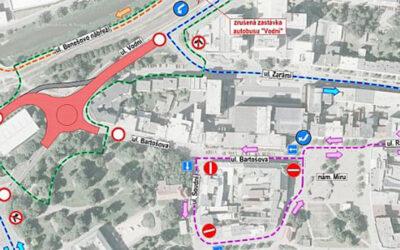 PŘIPOMÍNÁME: 1. června se uzavře část ulice Vodní v centru Zlína!