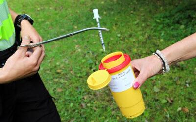 Strážníci zahájili kontroly dětských hřišť na výskyt použitých jehel a injekčních stříkaček